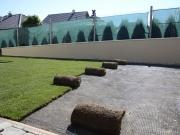 trávny drn pripravený na rozprestretie
