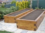 vyvýšené záhony pre pestovanie zeleniny